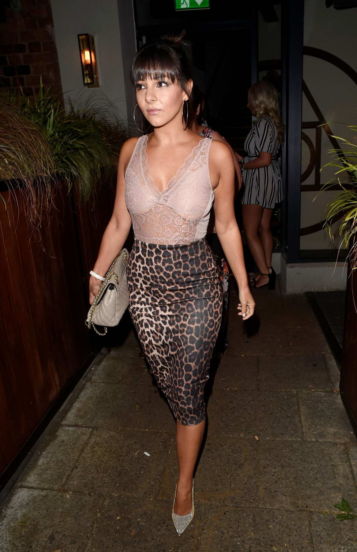 Roxanne Pallett spotted with Tito Jackson and Russell Kane for a Night out in Cheshire, UK
