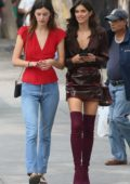 Sara Sampaio and Sadie Newman out and about in New York City