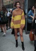 Sara Sampaio Leaving a Fashion Show in New York City
