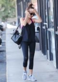 Sarah Hyland heading for a workout at the gym in Los Angeles