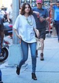 Selena Gomez is seen arriving for another day of work on the untitled Woody Allen project in New York City