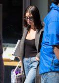 Selena Gomez leaving her apartment in New York