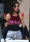 Selena Gomez on the set of a photoshoot in New York City