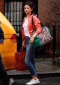 Selena Gomez shoots for untitled Woody Allen Project in New York City