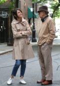 Selena Gomez spotted on the set of Untitled Woody Allen Project movie in New York City