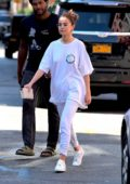Selena Gomez steps out for coffee wearing all white in New York