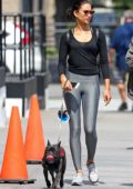 Shanina Shaik spotted walking her dog in Tribeca, New York