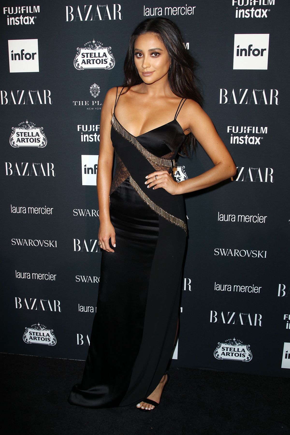 Shay Mitchell at the Harper's Bazaar ICONS party at New York Fashion Week
