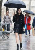 Sofia Carson on the set of a shoot in Paris, France - Set 1