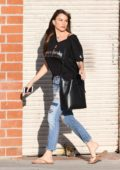 Sofia Vergara gets her nails done at a local salon in Los Angeles
