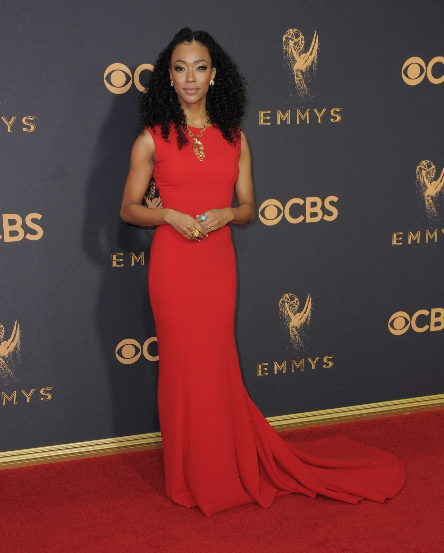 Sonequa Martin-Green at 69th Annual Primetime EMMY Awards held at Microsoft Theater in Los Angeles