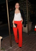 Sophia Bush and her boyfriend have a romantic dinner at Madeo in West Hollywood, Los Angeles