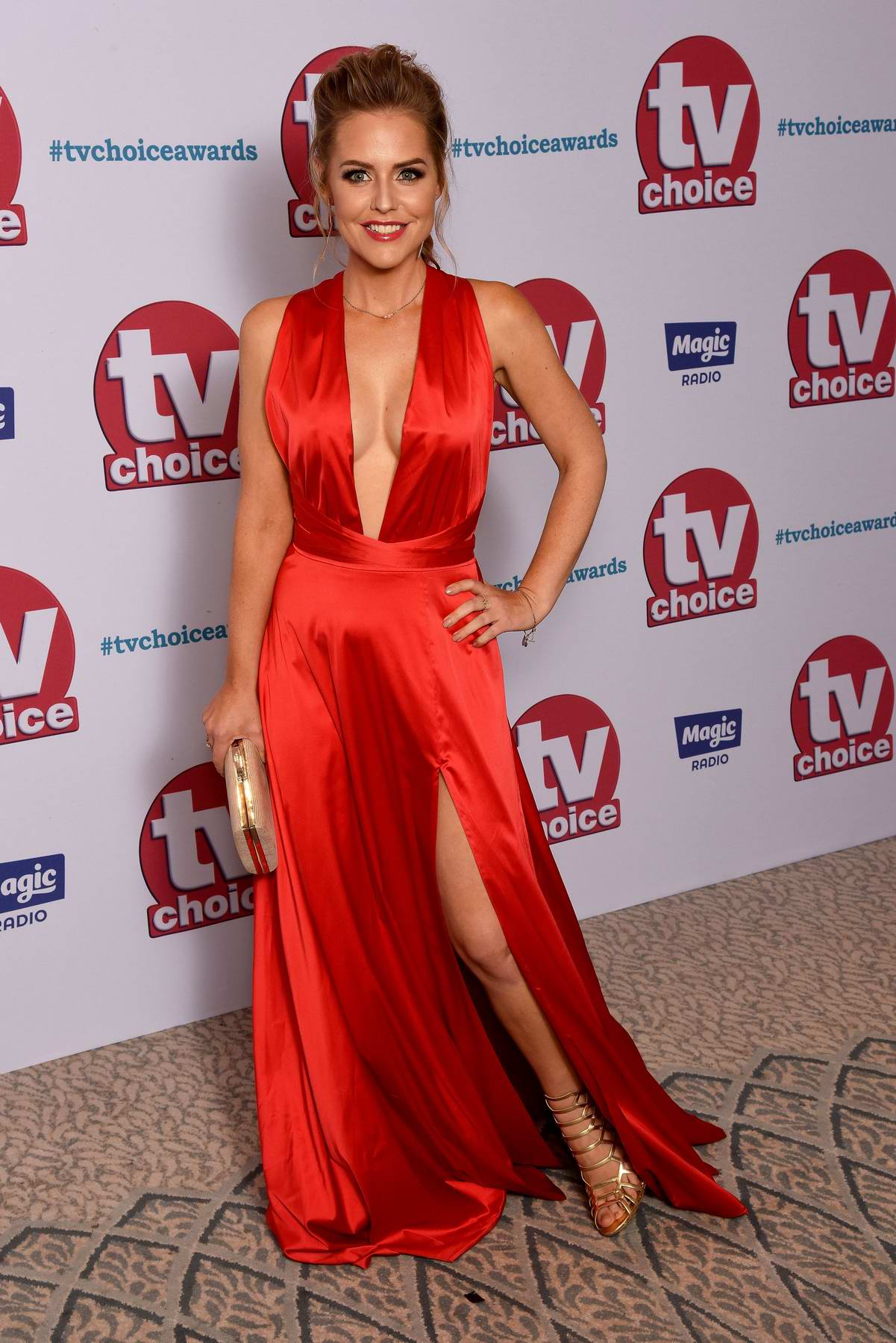 Stephanie Waring attends the TV Choice Awards 2017 held at the Dorchester in London