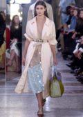 Taylor Hill on ramp for Bottega Veneta Show, spring summer 2018 during Milan Fashion Week