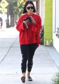 Vanessa Hudgens starts her morning off with a trip to pilates in Studio City, Los Angeles