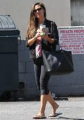 Vanessa Lachey poses with fans as she leaves DWTS rehearsals in Los Angeles