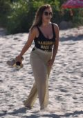 Vicky Pattison filming new TV project on beach in Marbella, Spain
