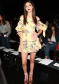 Victoria Justice at the Marchesa fashion show during New York Fashion Week