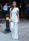 Victoria Justice in all white spotted in Tribeca, New York City