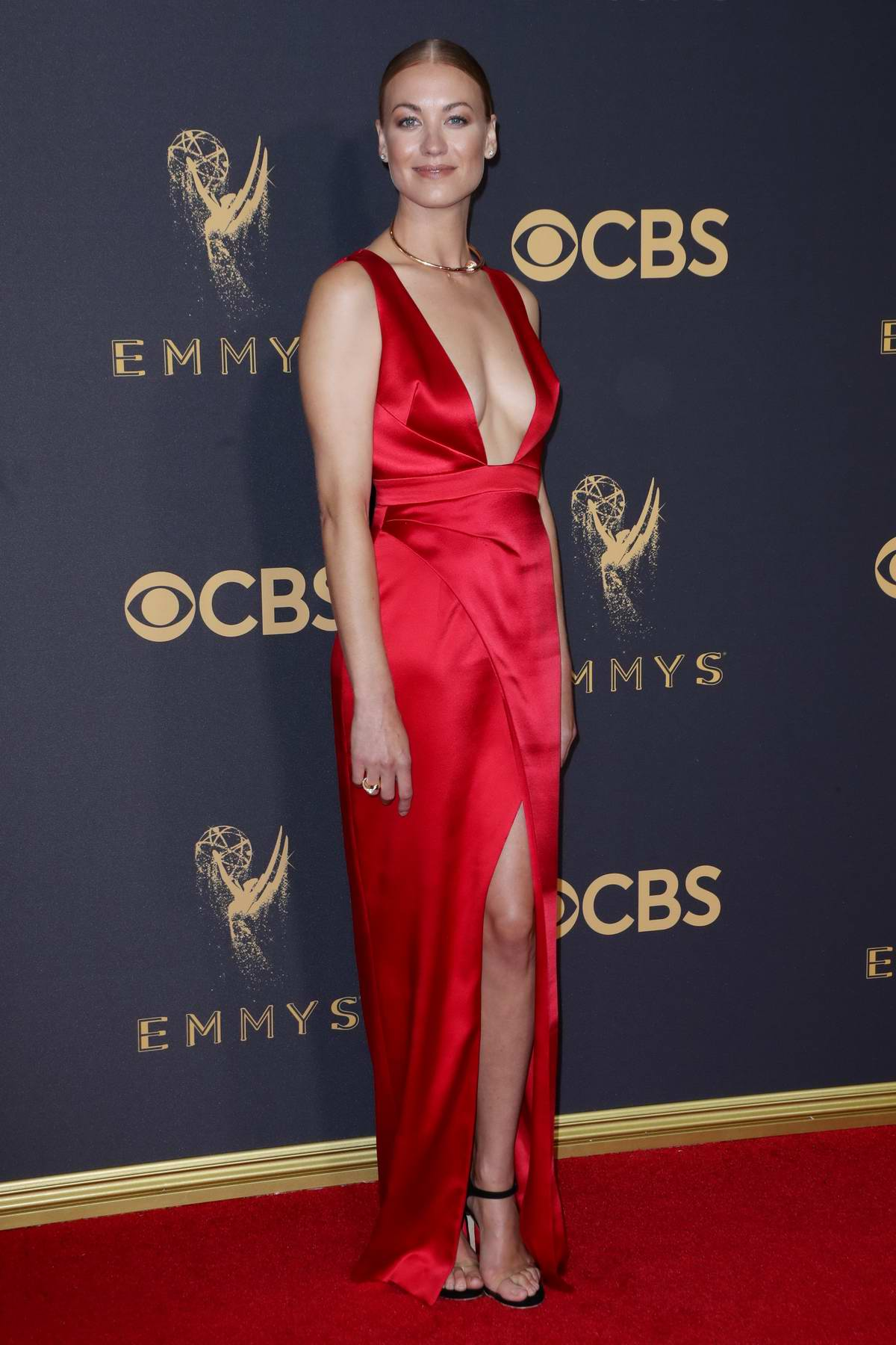 Yvonne Strahovski at 69th Annual Primetime EMMY Awards held at Microsoft Theater in Los Angeles