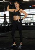 "Adriana Lima at ""Train Like a Victoria's Secret Angel"" at Dogpound in New York"