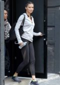 Adriana Lima spotted outside Dogpound gym in New York