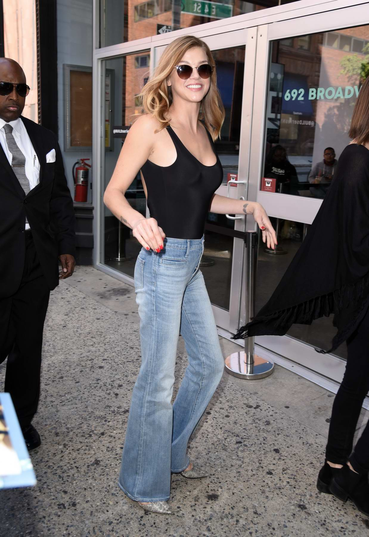 Adrianne Palicki makes an appearance at AOL Build Studios in New York City