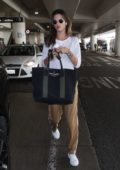 Alessandra Ambrosio arrives back from New York to LAX Airport. Los Angeles