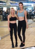 Alessandra Ambrosio at a 'Train Like An Angel' event with Tracy Anderson at her studio in New York