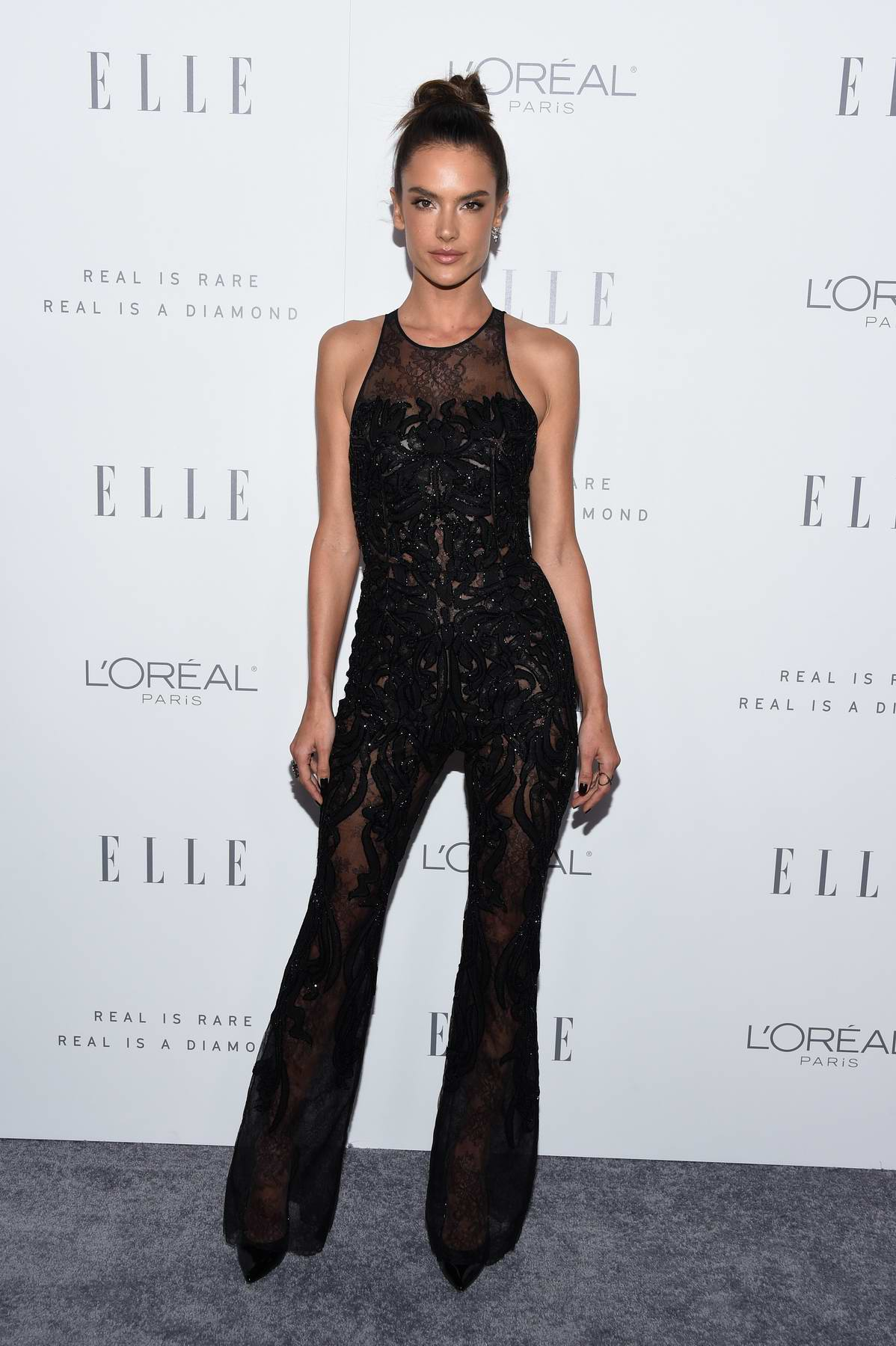 Alessandra Ambrosio at the Elle's 24th Annual Women in Hollywood Celebration in Los Angeles