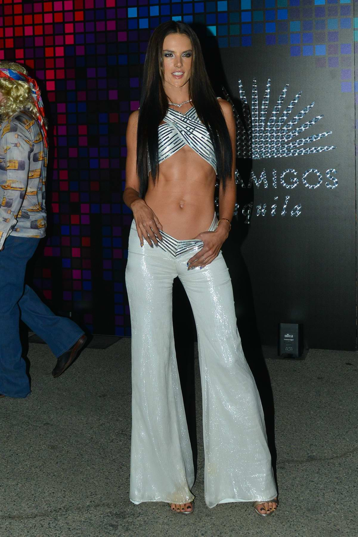 Alessandra Ambrosio at the Tequila Casamigos annual Halloween bash in Los Angeles