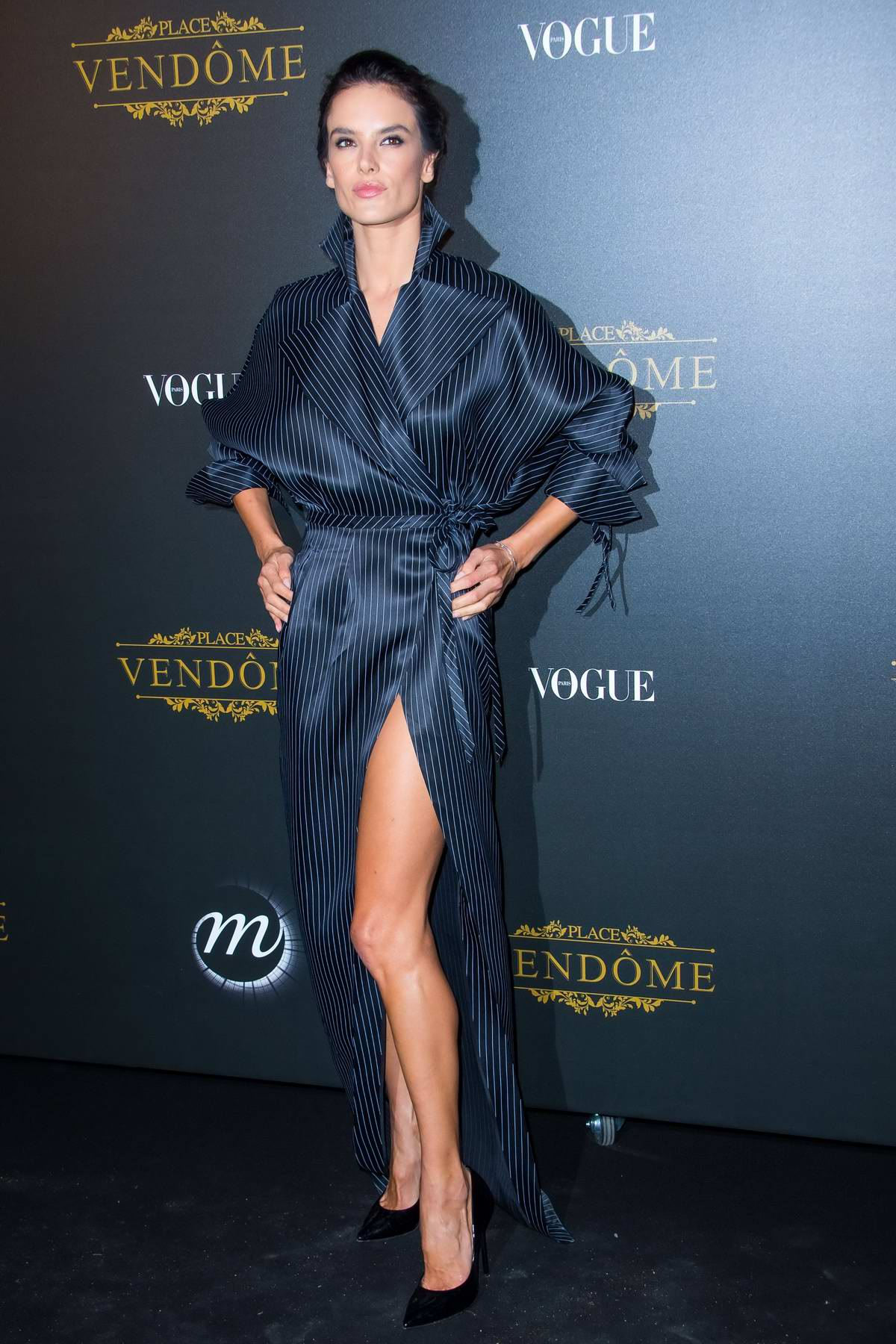 Alessandra Ambrosio at Vogue X Irving Penn Party during Paris Fashion Week, France