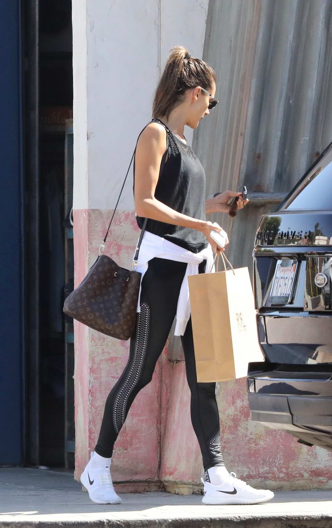 Alessandra Ambrosio out for some shopping in Malibu, California