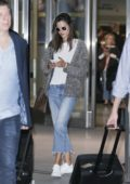 Alessandra Ambrosio touches down at JFK Airport in New York City