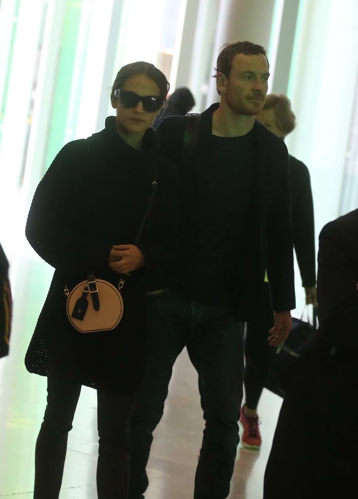 Alicia Vikander and Michael Fassbender spotted catching a flight out of Charles de Gaulle Airport in Paris, France
