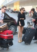 Alicia Vikander and Michael Fassbender flies out of Ibiza after their wedding