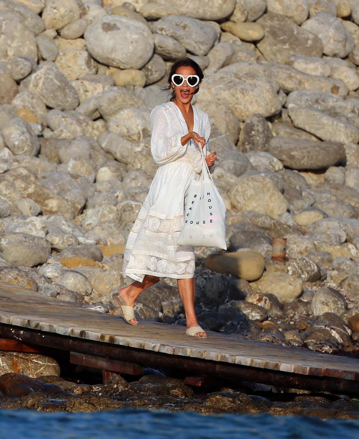 Alicia Vikander and Michael Fassbender party on eve of rumoured wedding in Ibiza, Spain