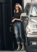 Amal Clooney arrives at a skin care salon wearing a ripped jeans in Beverly Hills, Los Angeles