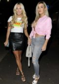 Amber Turner and friends seen arriving at la Sala in Essex, UK