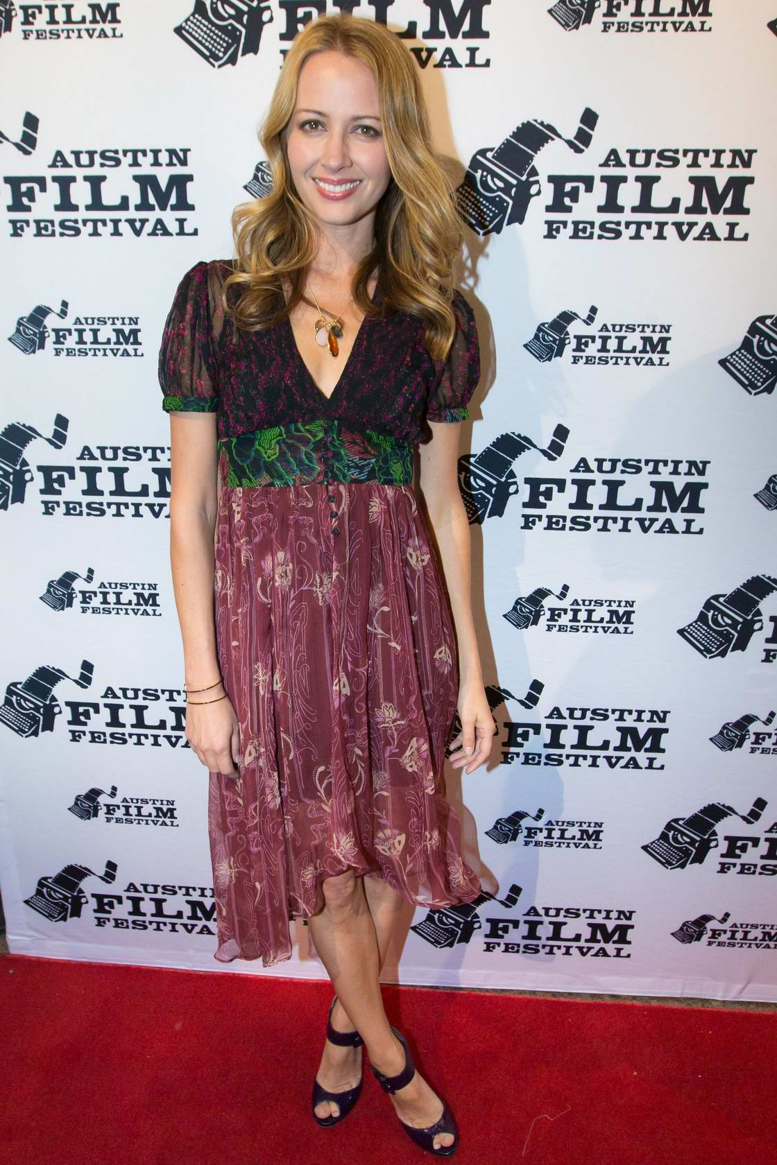 Amy Acker at the premiere of Amanda and Jack Go Glamping during Austin Film Festival in Austin, Texas