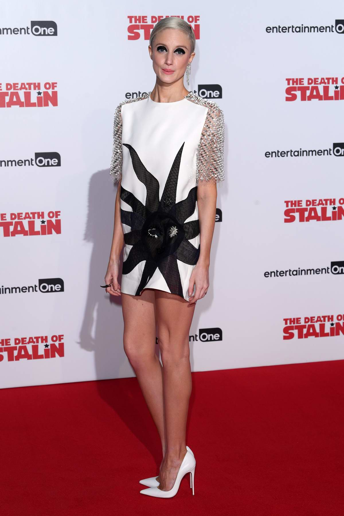 Andrea Riseborough at the premiere of the Death of Stalin in London