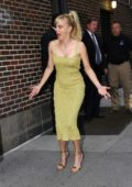 Anna Faris arriving for The Late Show with Stephen Colbert in New York City