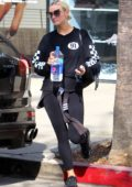 Ashlee Simpson leaving the gym at Tracy Anderson Studio in Studio City, Los Angeles