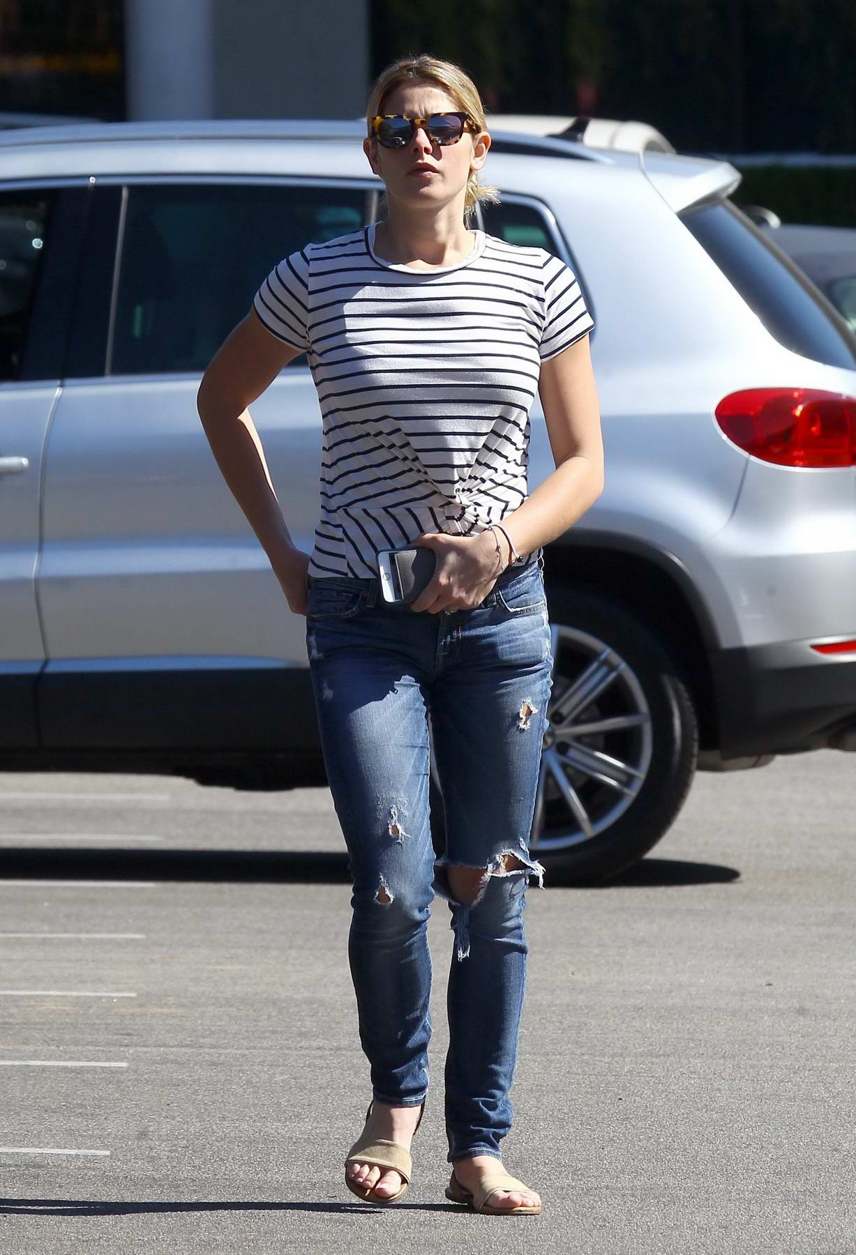 Ashley Green out shopping at Pavilions grocery store in Beverly Hills, Los Angeles