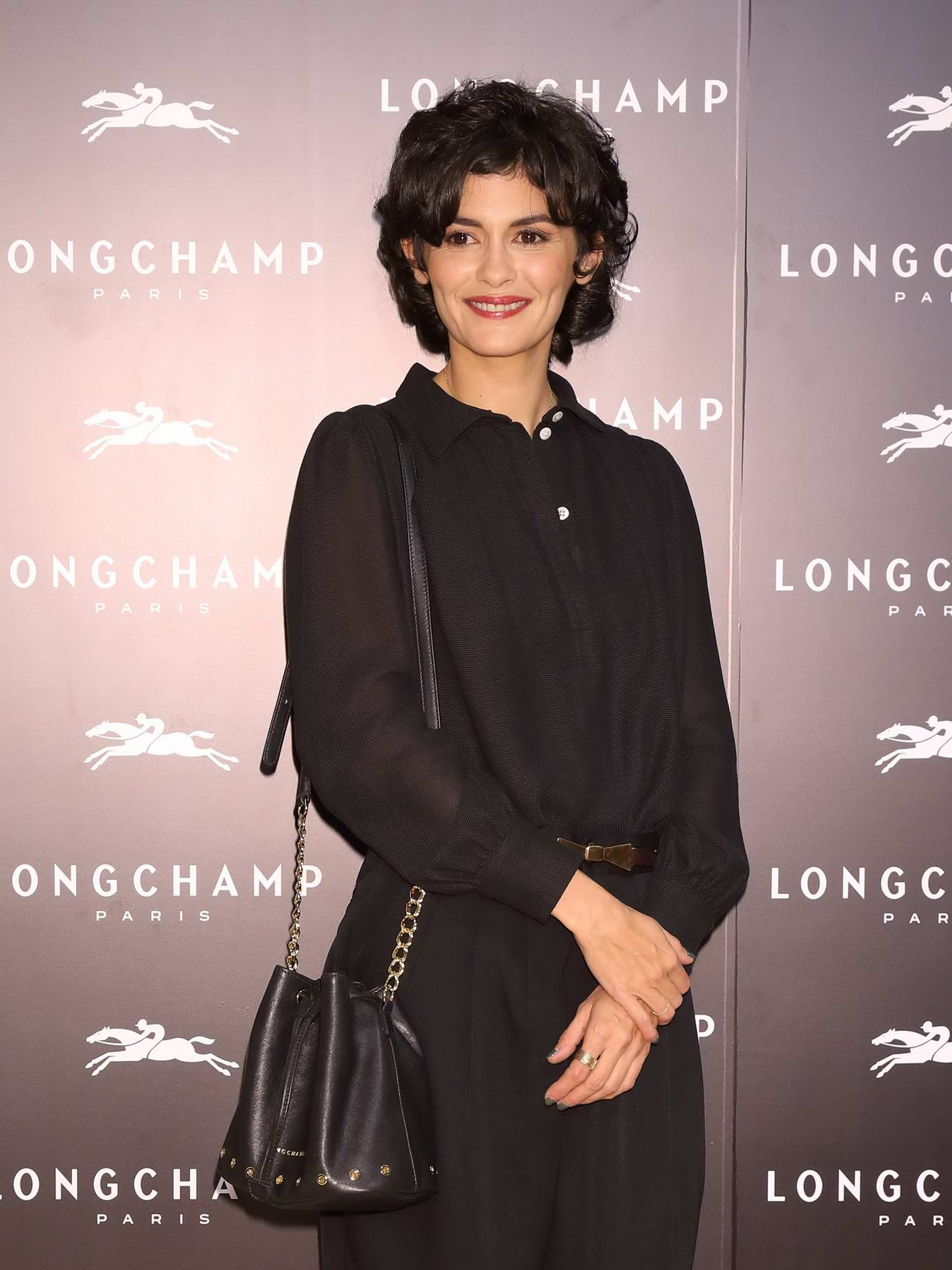 Audrey Tautou at Longchamp La Maison Omotesando store opening in Tokyo, Japan