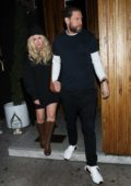 Avril Lavigne and Boyfriend JR Rotem leaves the Nice Guy restaurant in West Hollywood, Los Angeles