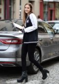 Barbara Palvin is seen out and about during Fashion Week in Paris, France