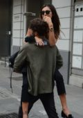 Belen Rodriguez and Andrea Iannone out and about in Milan, Italy