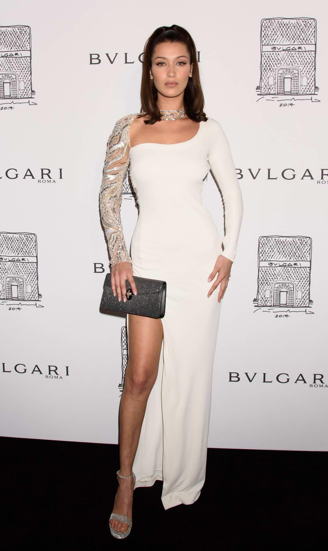 Bella Hadid at BVLGARI 5th avenue flagship store opening in New York