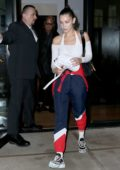 Bella Hadid enjoys a dinner date with her dad Mohamed Hadid at BondST in New York City